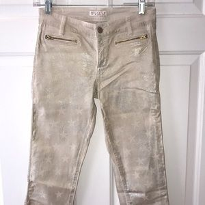 Guess Gold Star Distressed Skinny Jeans Size 27